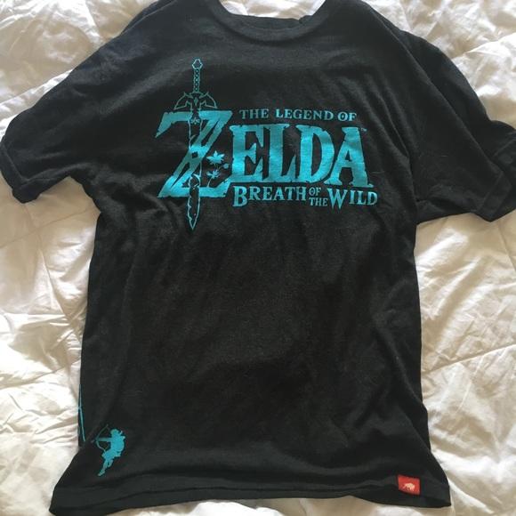 Nintendo Tops - The Legend of Zelda Breath of the Wild Shirt